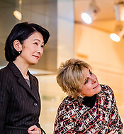 24-11-2017 - ARITA Princess Akishino kiko and princess Laurentien visit the Kyushu Ceramics Museum.<br /> Princess Laurentien of the Netherlands during a 2 day visit to Japan . COPYRGHT ROBIN UTRECHT