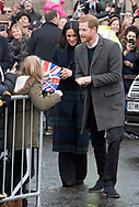 13.02.2018; Edinburgh, Scotland: MEGHAN MARKLE AND PRINCE HARRY VISIT EDINBURGH<br /> on their first official joint visit to Scotland. Prince Harry and Ms. Markle had the opportunity to learn more about organisations that work in the local community and nationwide, and celebrate youth in the Scottish Year of Young People 2018, during their visit.<br /> Meghan sported a long tartan coat for the visit.<br /> They are to be married on 19th May 2018 at Windsor Castle.<br /> Mandatory Photo Credit: &copy;Francis Dias/NEWSPIX INTERNATIONAL<br /> <br /> IMMEDIATE CONFIRMATION OF USAGE REQUIRED:<br /> Newspix International, 31 Chinnery Hill, Bishop's Stortford, ENGLAND CM23 3PS<br /> Tel:+441279 324672  ; Fax: +441279656877<br /> Mobile:  07775681153<br /> e-mail: info@newspixinternational.co.uk<br /> Usage Implies Acceptance of Our Terms &amp; Conditions<br /> Please refer to usage terms. All Fees Payable To Newspix International