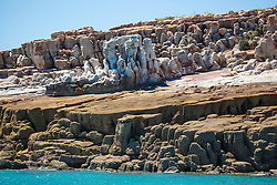 Stunning geological formations on Wailgwin Island in Camden Sound.