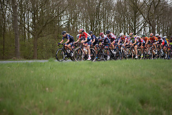 Ilona Hoeksma (NED) of Hitec Products Cycling Team and Christine Majerus (LUX) of Boels-Dolmans Cycling Team leads the peloton in the first lap of Stage 3 of the Healthy Ageing Tour - a 154.4 km road race, between  Musselkanaal and Stadskanaal on April 7, 2017, in Groeningen, Netherlands.