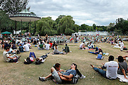 London: rock concert at the Pavilion in Regent's Park