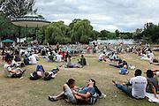 London: rock concert at the Pavilion in Regent's Park