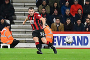 Ryan Fraser (24) of AFC Bournemouth crosses the ball for Callum Wilson (13) of AFC Bournemouth to sore during the The FA Cup match between Bournemouth and Luton Town at the Vitality Stadium, Bournemouth, England on 4 January 2020.