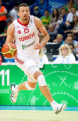 Hidayet Turkoglu of Turkey during basketball game between National basketball teams of Turkey and France at FIBA Europe Eurobasket Lithuania 2011, on September 7, 2011, in Siemens Arena,  Vilnius, Lithuania.France defeated Turkey 68-64. (Photo by Vid Ponikvar / Sportida)