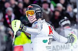 "29.01.2019, Planai, Schladming, AUT, FIS Weltcup Ski Alpin, Slalom, Herren, 2. Lauf, im Bild Alex Vinatzer (ITA) // Alex Vinatzer of Italy reacts after his 2nd run of men's Slalom ""the Nightrace"" of FIS ski alpine world cup at the Planai in Schladming, Austria on 2019/01/29. EXPA Pictures © 2019, PhotoCredit: EXPA/ JFK"
