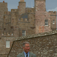 HRH The Prince Charles Duke of Rothesay and HRH Duchess of Rothesay at the opening of Castle Mey new visitor Centre at  Mey(Caithness) Scotland Aug 4 2007.Castle Mey used to be the summer residence of the late Queen Mother