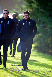 BLACKBURN, ENGLAND - Saturday, January 6, 2018: Liverpool's Under-18 manager Steven Gerrard before an Under-18 FA Premier League match between Blackburn Rovers FC and Liverpool FC at Brockhall Village Training Ground. (Pic by David Rawcliffe/Propaganda)