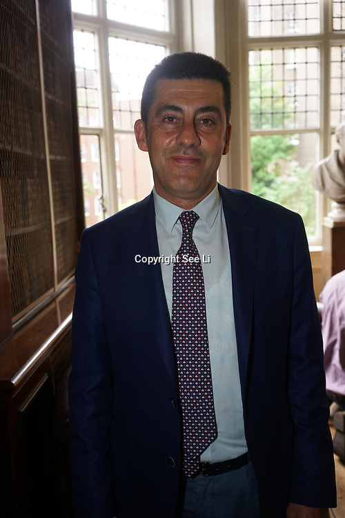 London,England,UK. 17th May 2017. Zafer Kizilkaya from Turkey Winner of the 2017 Gold Whitley Awards holds a Press conference at The Royal Geographical Society. by See Li