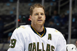 December 13, 2010; San Jose, CA, USA;  Dallas Stars center Steve Ott (29) warms up before the game against the San Jose Sharks at HP Pavilion.  Dallas defeated San Jose 3-2 in shootouts. Mandatory Credit: Jason O. Watson / US PRESSWIRE