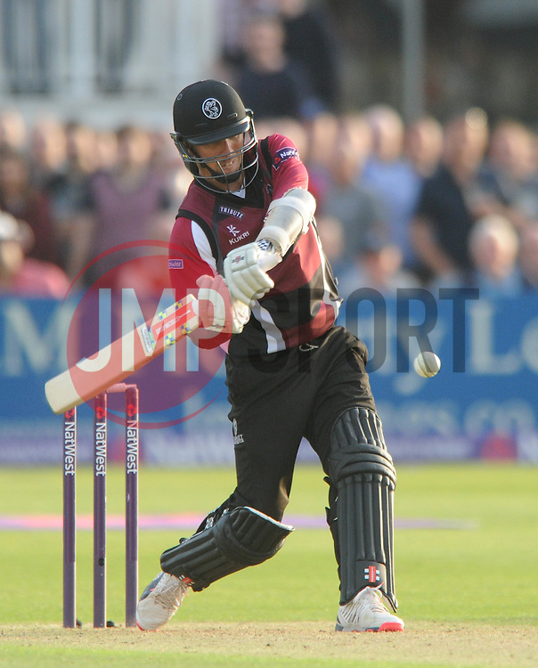 Tom Cooper of Somerset bats - Photo mandatory by-line: Dougie Allward/JMP - Mobile: 07966 386802 - 19/06/2015 - SPORT - Cricket - Bristol - County Ground - Gloucestershire v Somerset - Natwest T20 Blast