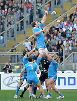 Rome, Italy -In the photo touche during .Olympic stadium in Rome Rugby test match Cariparma.Italy vs New Zealand (All Blacks). (Credit Image: © Gilberto Carbonari).