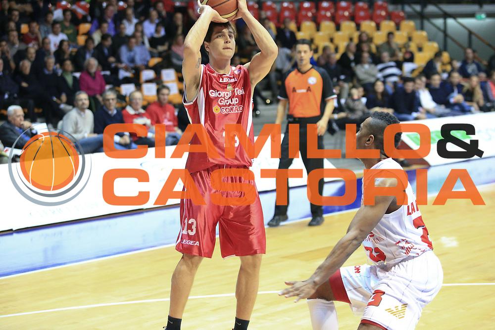 DESCRIZIONE : Desio Lega A 2013-14 EA7 Emporio Armani Milano Giorgio Tesi Pistoia<br /> GIOCATORE : Cortese Riccardo<br /> CATEGORIA : Tiro<br /> SQUADRA : Giorgio Tesi Pistoia<br /> EVENTO : Campionato Lega A 2013-2014<br /> GARA : EA7 Emporio Armani Milano Giorgio Tesi Pistoia<br /> DATA : 04/11/2013<br /> SPORT : Pallacanestro <br /> AUTORE : Agenzia Ciamillo-Castoria/M.Mancini<br /> Galleria : Lega Basket A 2013-2014  <br /> Fotonotizia : Desio Lega A 2013-14 EA7 Emporio Armani Milano Giorgio Tesi Pistoia<br /> Predefinita :