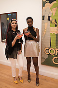 SAFREEN KHAN; BARBARA ADENIKEN, Private view for the Art of Campari, The Estorick Collection,  Islington. London. 3 July 2018