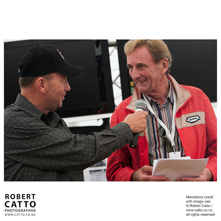 Michael Garlick;Phil Kerr at the Launch of the Bruce McLaren Movie project at the A1 Grand Prix of New Zealand at the Taupo Motorsport Park, Taupo, New Zealand.