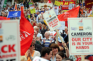 Thousands gathered on Bass' Rec to protest against the Government's decision to award a rail contract to German based Siemens. After marching through the city, the large crowd ended up on Cathedral Green where they listened to a number of speeches made by public and senior figures.