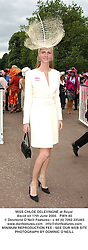 MISS CHLOE DELEVINGNE at Royal Ascot on 17th June 2004.PWH 80