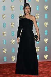 Arrivals at the EE British Academy Film Awards 2019 (BAFTAs) held at The Royal Albert Hall, London, England, UK on February 10, 2019. 10 Feb 2019 Pictured: Salma Hayek. Photo credit: Phil Loftus/Capital Pictures / MEGA TheMegaAgency.com +1 888 505 6342