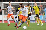 Luton Town midfielder Kazenga LuaLua runs at goal during the EFL Sky Bet League 1 match between Burton Albion and Luton Town at the Pirelli Stadium, Burton upon Trent, England on 27 April 2019.
