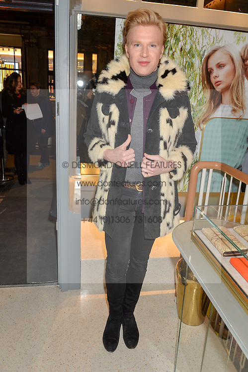 HENRY CONWAY at the launch of the new J&M Davidson flagship shop at 104 Mount Street, London on 3rd February 2016.