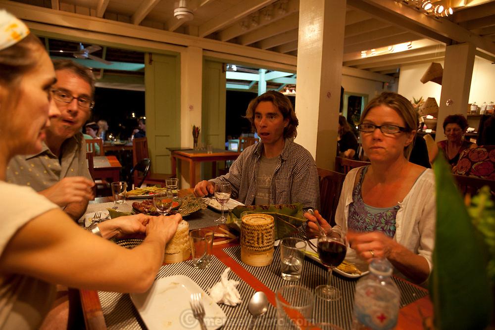 Dinner at Tamarind Restaurant, Luang Prabang, Laos. MODEL RELEASED.