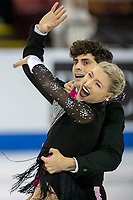 KELOWNA, BC - OCTOBER 25:  Canadian ice dancers Piper Gilles and Paul Poirier perform during rhythm dance at Skate Canada International with their coach Megan Wing at Prospera Place on October 25, 2019 in Kelowna, Canada. (Photo by Marissa Baecker/Shoot the Breeze)