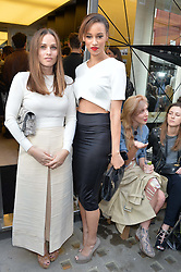 Left to right, ANNA LAUB founder of Prism and ELARICA GALLACHER at the Prism Boutique Summer Party held at Prism, 54 Chiltern Street, London on 14th May 2014.