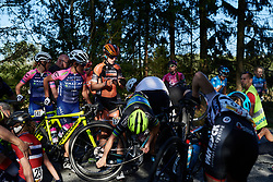 Skylar Schneider (USA) caught in the middle of a huge crash during Ladies Tour of Norway 2019 - Stage 3, a 125 km road race from Moss to Halden, Norway on August 24, 2019. Photo by Sean Robinson/velofocus.com