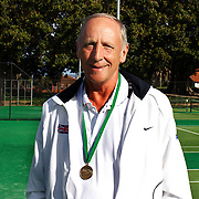 Keith Bland, Great Britain, Semi Finalist, 60 Mens Singles competition during the 2009 ITF Super-Seniors World Team and Individual Championships at Perth, Western Australia, between 2-15th November, 2009
