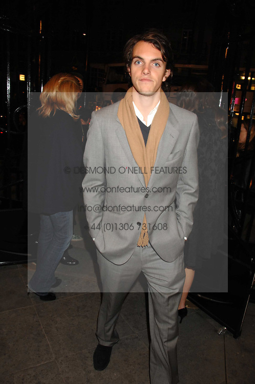 VISCOUNT ERLEIGH at a party to celebrate the opening of the new Beatrix Ong store in Burlington Arcade, Piccadilly, London on 14th November 2007.<br />
