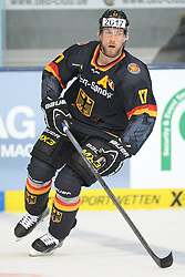 07.11.2014, Olympia Eisstadion, Muenchen, GER, IIHF, Deutschland Cup, Deutschland vs Schweiz, im Bild Marcus Kink (Deutschland) // during the German Cup Match between Germany and Switzerland at the Olympia Eisstadion in Muenchen, Germany on 2014/11/07. EXPA Pictures © 2014, PhotoCredit: EXPA/ Eibner-Pressefoto/ Laegler<br /> <br /> *****ATTENTION - OUT of GER*****