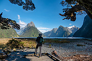 Milford Sound, in Fiordland National Park, Southland region, South Island of New Zealand. In 1990, UNESCO honored Te Wahipounamu - South West New Zealand as a World Heritage Area.