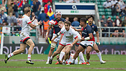 "Twickenham, Surrey United Kingdom.  Canada's Harry JONES run's on to a pass from Lucas HAMMOND,  during the Pool C match, Canada vs Japan. during the  ""2017 HSBC London Rugby Sevens"",  Saturday 20/05/2017 RFU. Twickenham Stadium, England    <br /> <br /> [Mandatory Credit Peter SPURRIER/Intersport Images]"