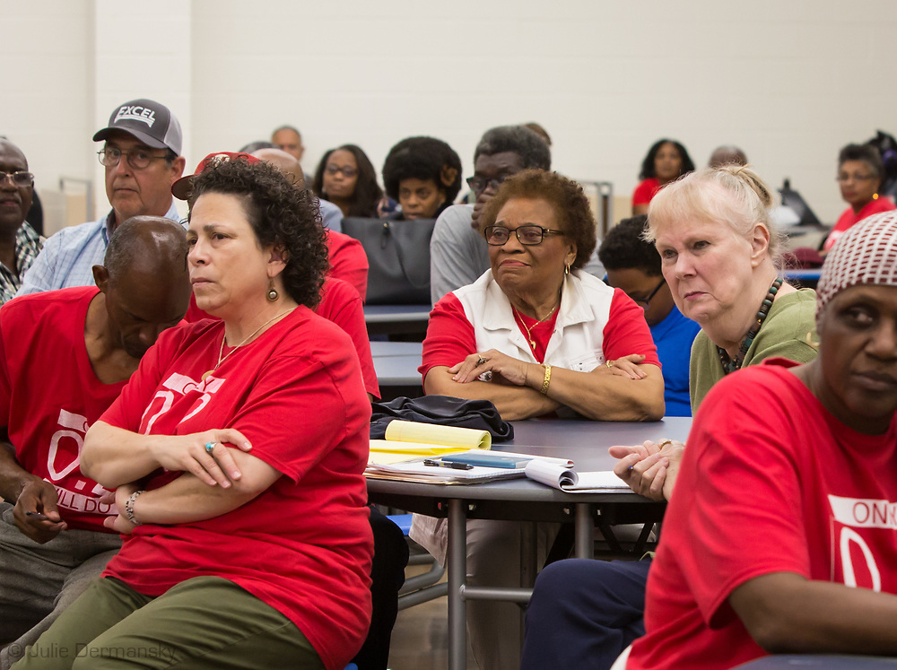 Mary Hampton, Wilma Subra and other members of the Concerned Citizens of St Johns an open house meeting held by the  School Board and lawyers about air quality situation in St. John The Baptist Parish