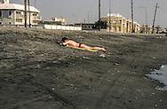 Yemen. Hodeidah.  Hodeidah  Russian presence  on the beach      /  Hodeidah présence russe sur la plage