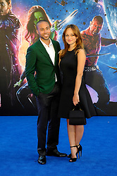 Image ©Licensed to i-Images Picture Agency. 24/07/2014. London, United Kingdom. Alexis Rodney & Guest attends the UK Premiere of 'Guardians of the Galaxy' at Empire Leicester Square. Picture by Chris Joseph / i-Images