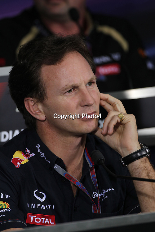 &copy; Photo4 / LaPresse<br /> 26/10/2012 Noida, India<br /> Sport <br /> Indian Grand Prix, Noida 25-28 October 2012<br /> In the pic: Christian Horner (GBR), Red Bull Racing, Sporting Director