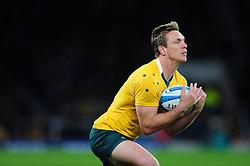 Dane Haylett-Petty of Australia in possession - Mandatory byline: Patrick Khachfe/JMP - 07966 386802 - 08/10/2016 - RUGBY UNION - Twickenham Stadium - London, England - Argentina v Australia - The Rugby Championship.