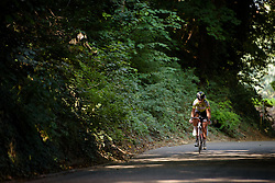 Esra Tromp (Parkhotel Valkenburg) in the break with 45km to go at the 123 km Stage 3 of the Boels Ladies Tour 2016 on 1st September 2016 in Sittard Geleen, Netherlands. (Photo by Sean Robinson/Velofocus).