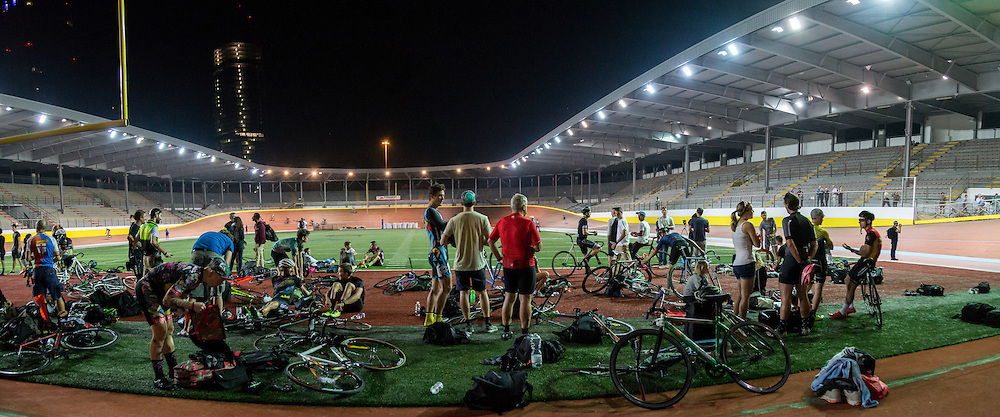 During the &quot;Red Hook Crit Track Night&quot; the Vigorelli velodrome opened its doors to the riders that were in town for the upcoming RHC Milano no. 7<br /> <br /> Photo: Tornanti.cc