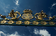 Architectural detail of ornate gate outside of Drottningholm Castle, Stockholm, Sweden..Media Usage:.Subject photograph(s) are copyrighted Edward McCain. All rights are reserved except those specifically granted by McCain Photography in writing...McCain Photography.211 S 4th Avenue.Tucson, AZ 85701-2103.(520) 623-1998.mobile: (520) 990-0999.fax: (520) 623-1190.http://www.mccainphoto.com.edward@mccainphoto.com