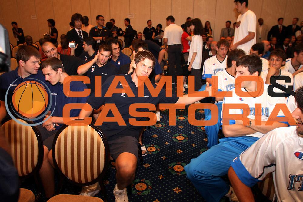 DESCRIZIONE : Sapporo Giappone Japan Men World Championship 2006 Campionati Mondiali Opening Cerimony Cerimonia d'Apertura<br />GIOCATORE : Jurak Michelori<br />SQUADRA : Slovenia Italia Italy<br />EVENTO : Sapporo Giappone Japan Men World Championship 2006 Campionato Mondiale Opening Cerimony Cerimonia d'Apertura<br />DATA : 18/08/2006 <br />CATEGORIA : Ritratto<br />SPORT : Pallacanestro <br />AUTORE : Agenzia Ciamillo-Castoria/G.Ciamillo