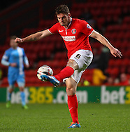 Dorian Dervite of Charlton Athletic during the Sky Bet Championship match at The Valley, London<br /> Picture by David Horn/Focus Images Ltd +44 7545 970036<br /> 15/04/2014