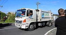 Auckland-Police cordon off fatal rubbish truck crash, Birkenhead