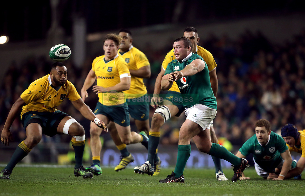 Ireland's Jack McGrath in action during the Autumn International match at the Aviva Stadium, Dublin.