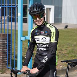 TWENTERAND (NED) wielrennen<br />Verkenning van een nieuw stuk parcours<br />Rick Pluimers