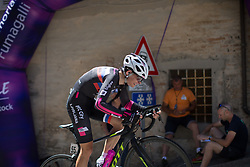 Ursa Pintar (SLO) of BTC City Ljubljsana Cycling Team rides near the top of the final climb of Stage 5 of the Giro Rosa - a 12.7 km individual time trial, starting and finishing in Sant'Elpido A Mare on July 4, 2017, in Fermo, Italy. (Photo by Balint Hamvas/Velofocus.com)