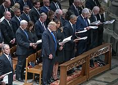 Funeral Of Former President George W. Bush - Washington - 05 Dec 2018