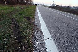 IL PUNTO DELL'INCIDENTE IN VIA ARGINE VALLE A FELONICA<br /> MORTO RENATO SECCHIEROLI BONDENO