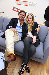 ISABELLE MIER and JORGE MONTOJO at the inaugural exhibition at the Yvon Lambert London Gallery featuring work ny Mexican born artist Carlos Amorales, 20 Hoxton Square, London N1 on 16th October 2008.
