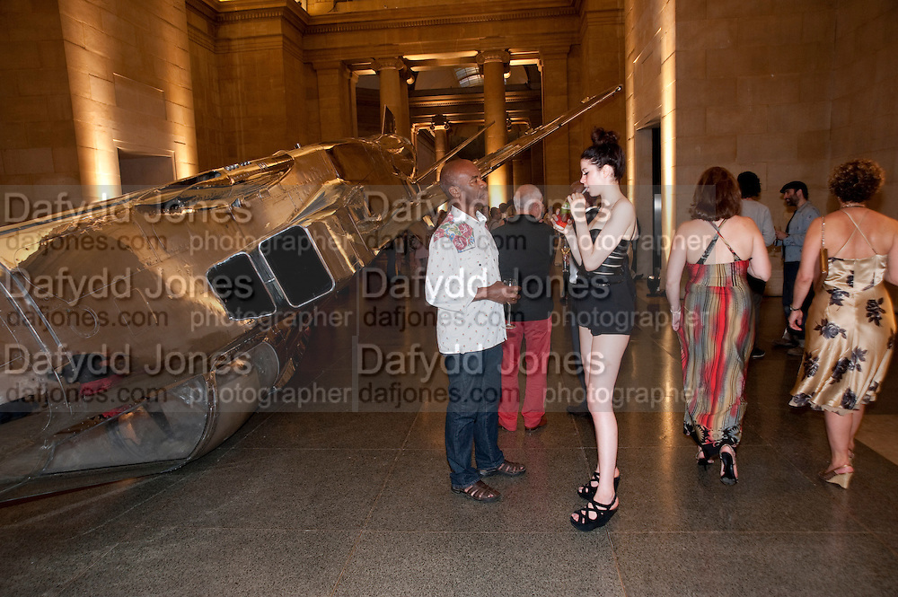 TAM JOSEPH; MADELEINE RUGGI, Tate Summer Party. Celebrating the opening of the  Fiona Banner. Harrier and Jaguar. Tate Britain. Annual Duveens Commission 29 June 2010. -DO NOT ARCHIVE-© Copyright Photograph by Dafydd Jones. 248 Clapham Rd. London SW9 0PZ. Tel 0207 820 0771. www.dafjones.com.